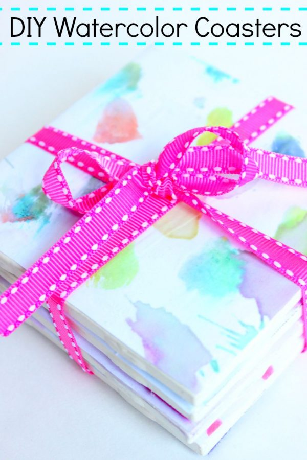 DIY Watercolor Coasters