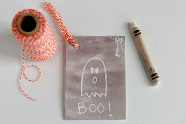 DIY Watercolor Gift Tags for Halloween