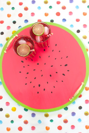 15 DIYs to Make for National Watermelon Day DIY Tray