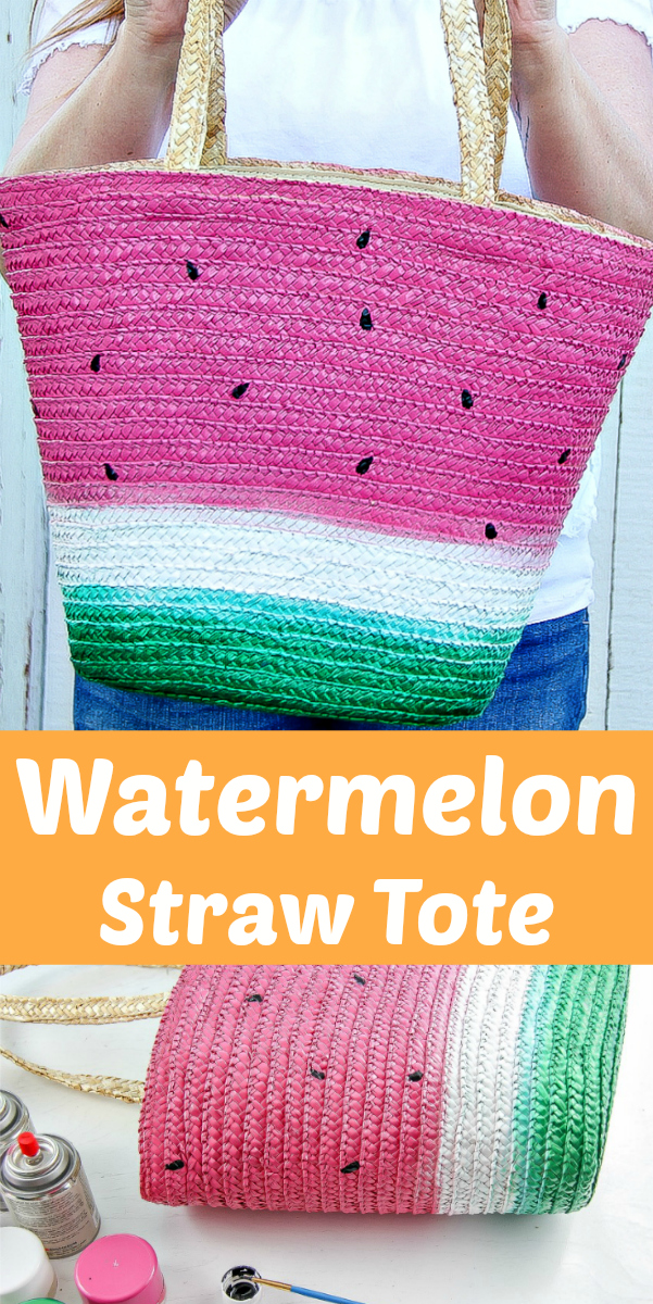 DIY Watermelon Straw Tote Bag