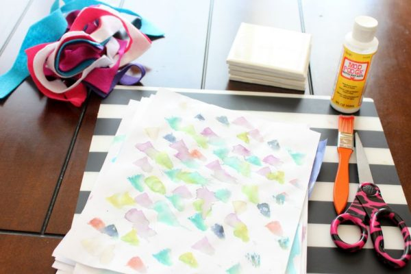 DIY coasters with kids