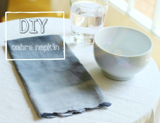 DIY ombre napkin project @makeandtakes.com