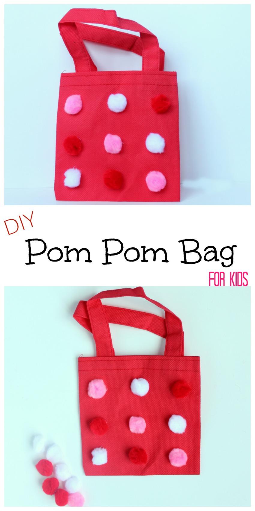 DIY Pom Pom Bag for Kids