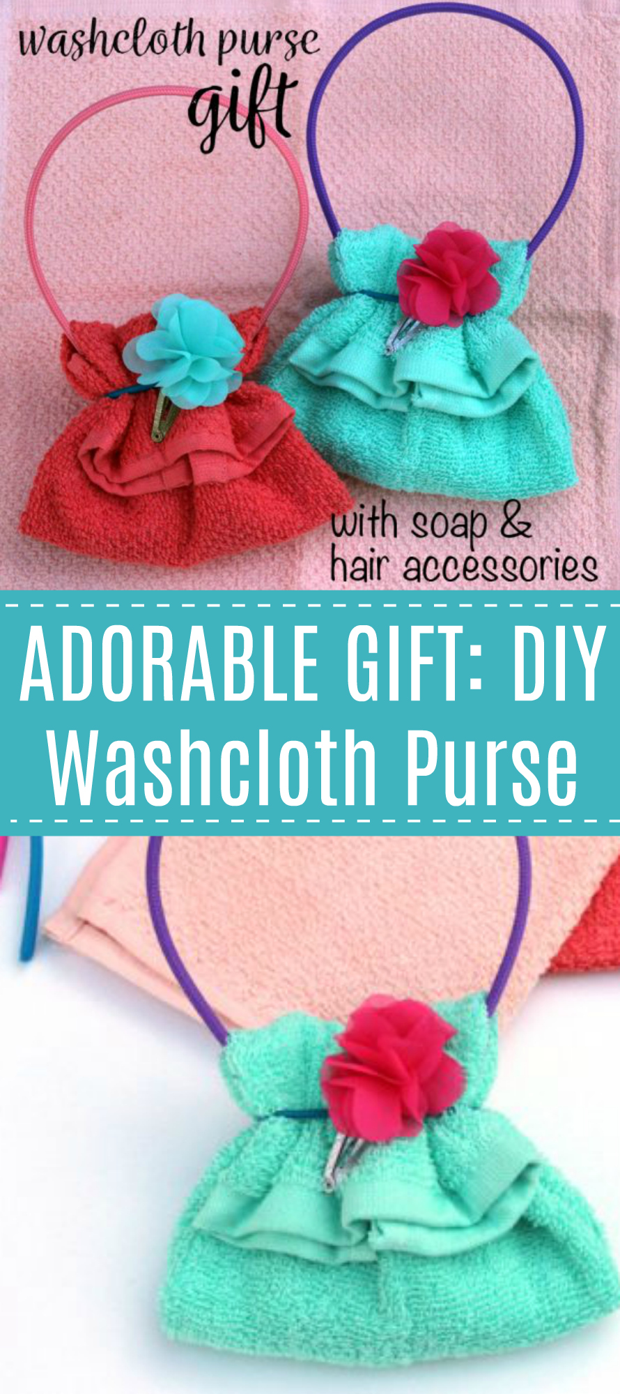 DIY Washcloth Purse Gift