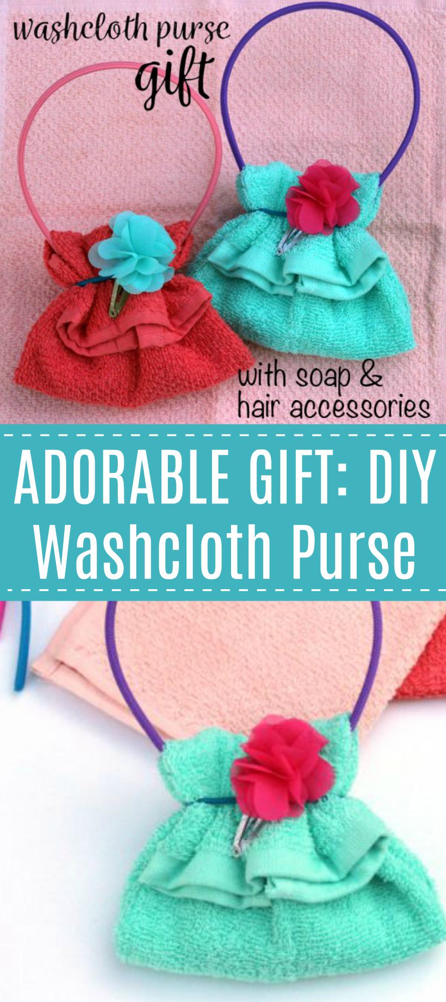 DIY Washcloth Purse Gift
