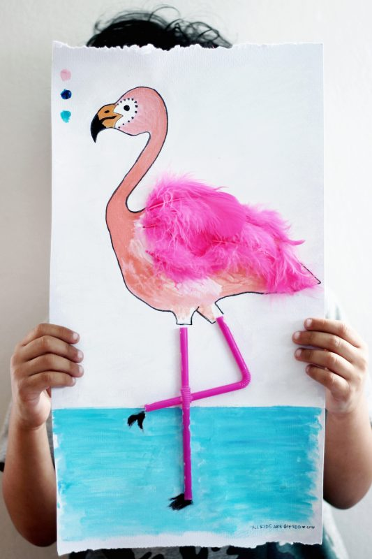 Flamingo DIY + Printable