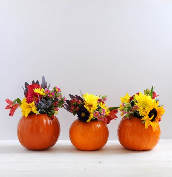 DIY Mini Pumpkin Vase for Fall