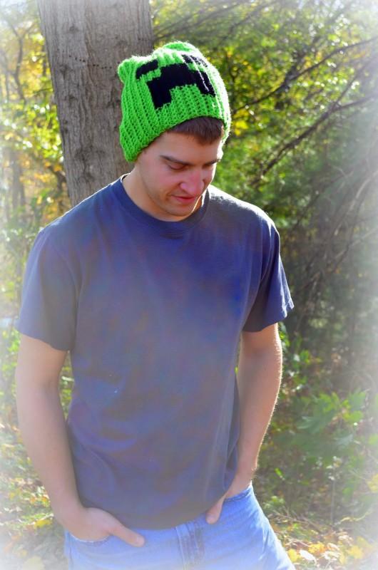 Creeper Slouchy Crochet Hat