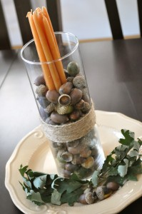 easy fall decorating centerpiece idea