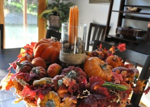 fall autumn centerpiece idea