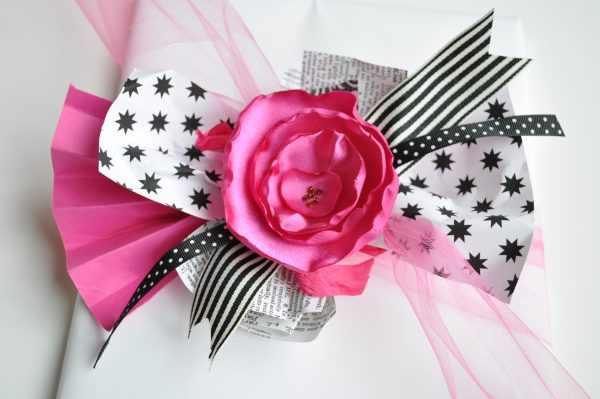 Easy Scrap Gift Bow Finished Product