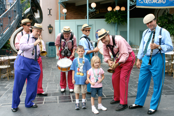 Dancing at Disneyland with the Band for Beads