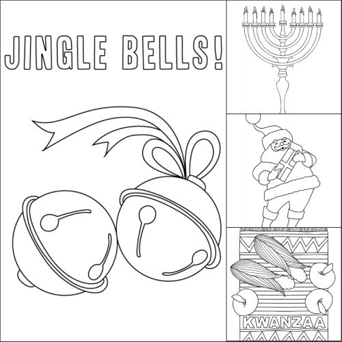 Free Coloring Pages for the December Holidays | Make and Takes