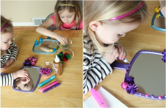 Decorating Mirrors for a Princess party