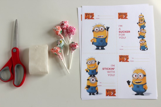 Easy Printable Minion Valentine #MyFavoriteBloggers - The
