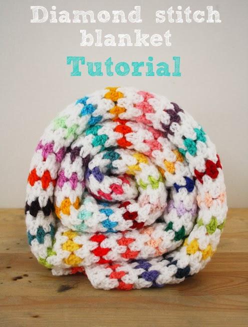 Diamond stitch blanket tutorial