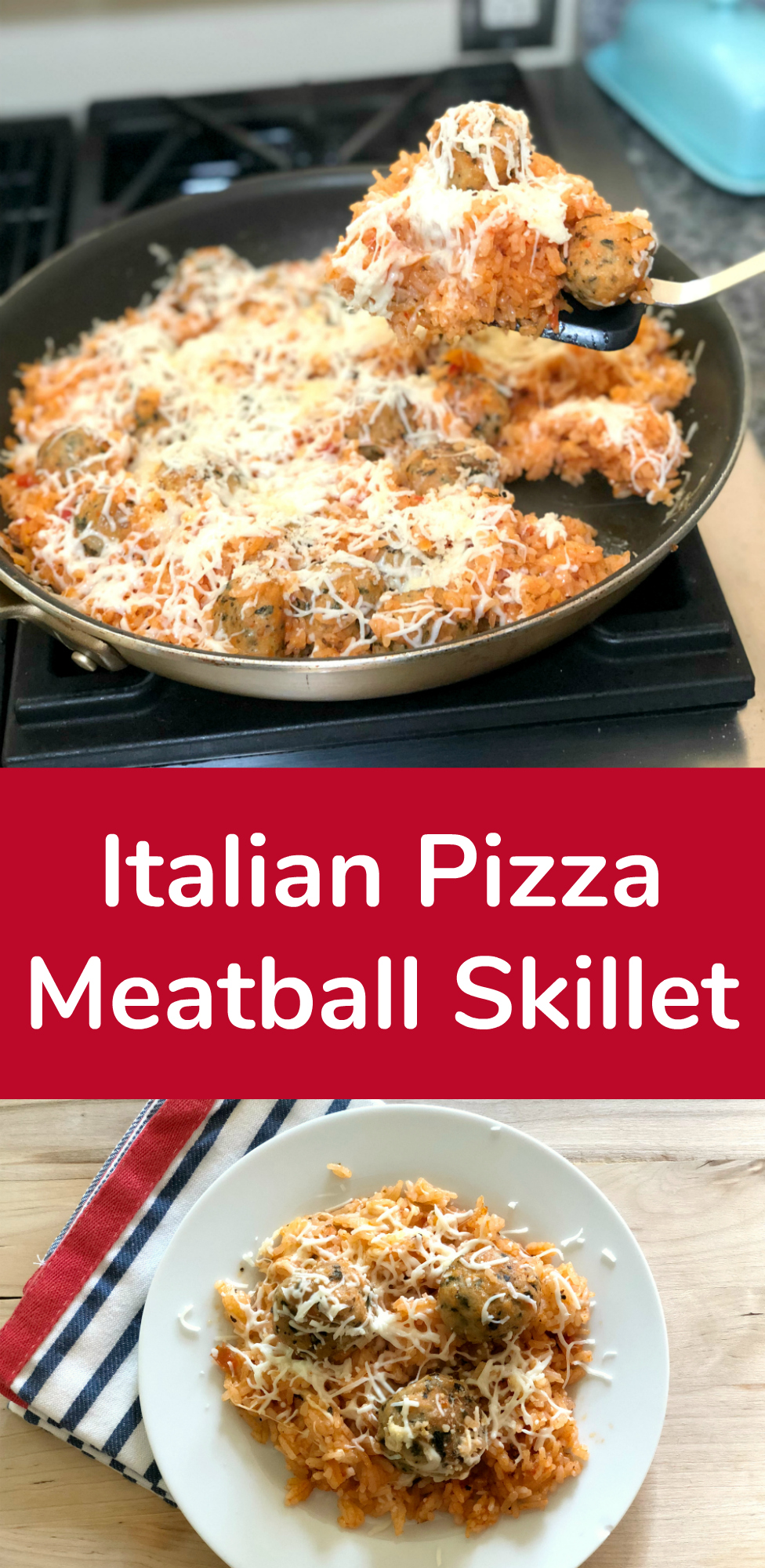 Dinner Tonight Italian Pizza Meatball Skillet