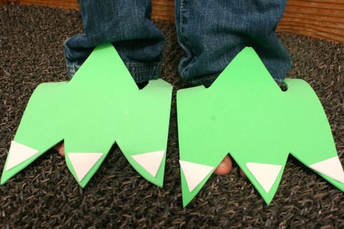 Dinosaur Birthday Party Feet