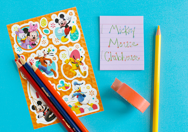 Disney Mickey Mouse Clubhouse Stickers for a Kids Craft Story Starters