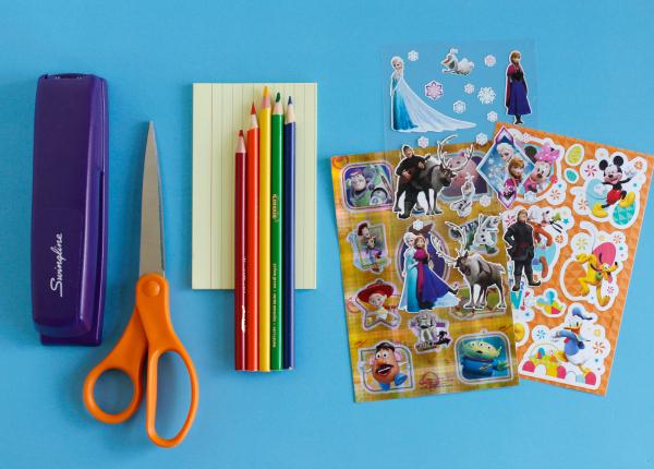 Disney Sticker Story Starter Supplies