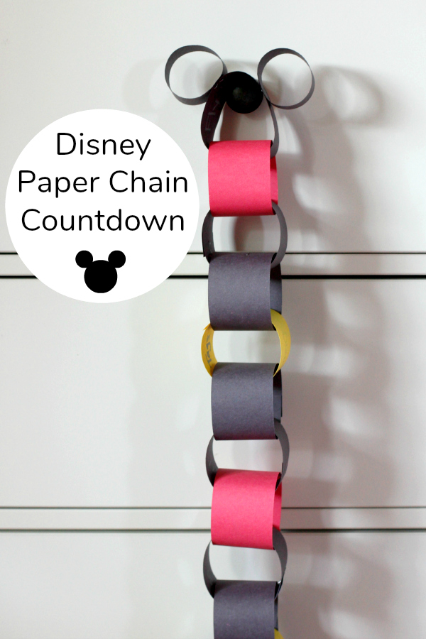 Disney Vacation Paper Chain Countdown