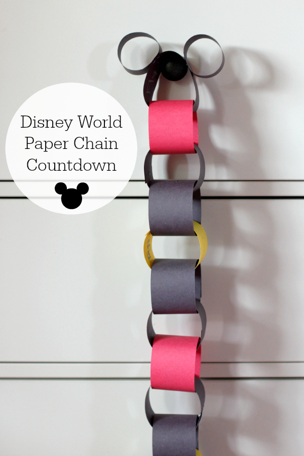 Disney World Paper Chain Countdown