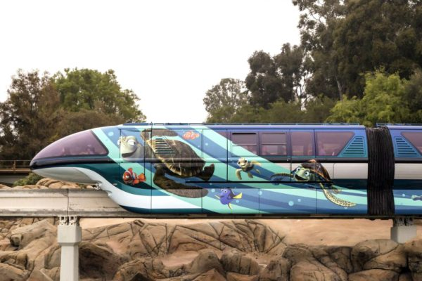 Disneyland Monorail Pixar Fest