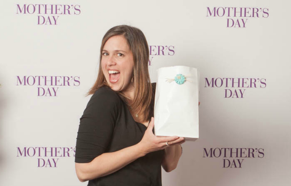 Displaying Mother's Day Popcorn Bags