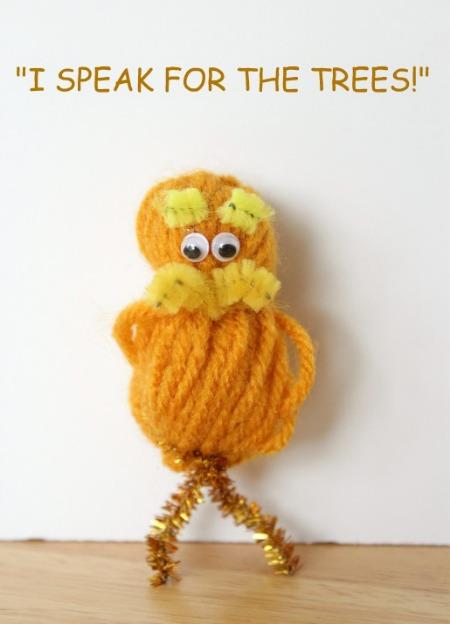 Mini Lorax Yarn Pom