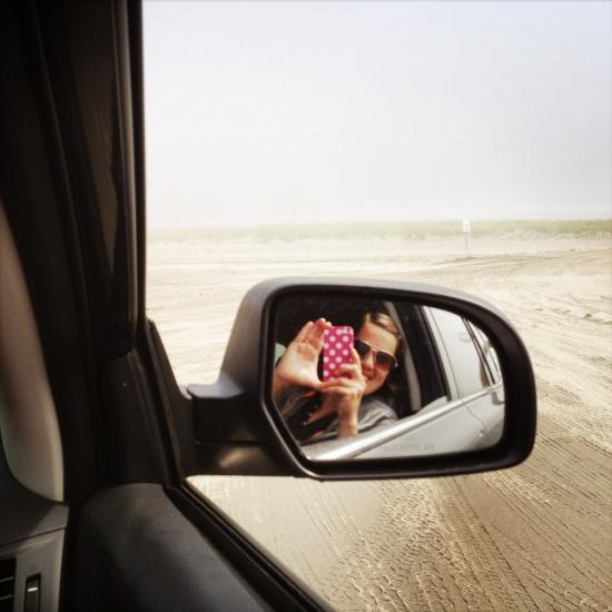 Driving on the Long Beach Peninsula