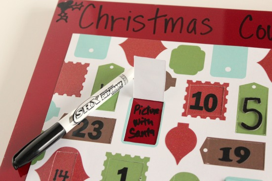 Dry Erase Christmas Advent Countdown Calendar makeandtakes.com