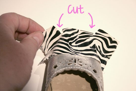 Duck Tape Shoe Tips 4 _ cut
