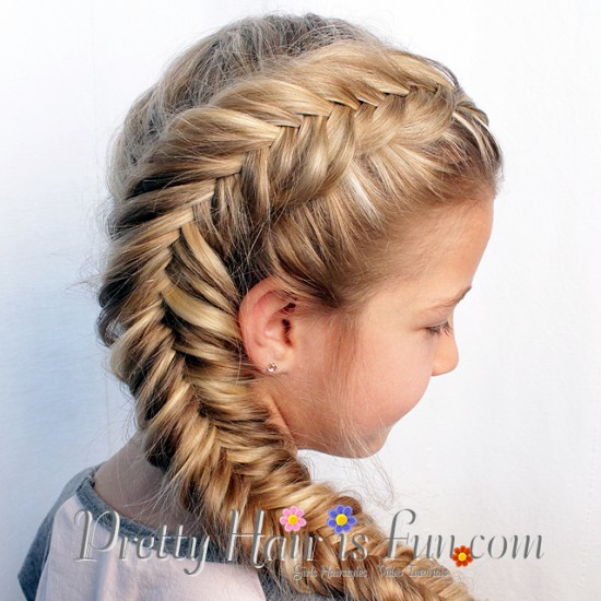 Side Dutch Fishtail Braid