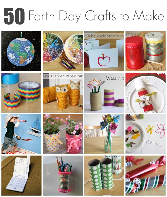 50 earth day crafts to make with kids make and takes for Useful things to make out of recycled materials