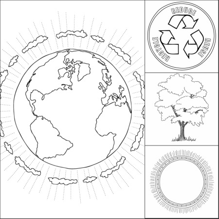 earth planet cutouts printables - photo #10