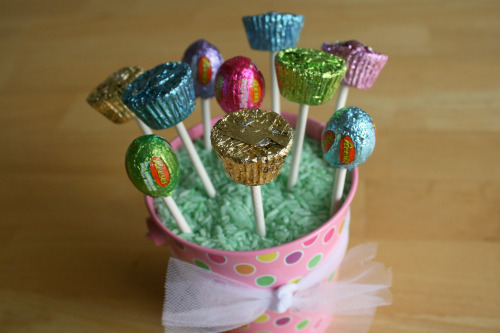 Easter Candy made into Lollipops