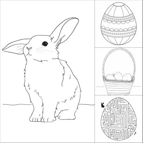 easter coloring pages - Make Coloring Pages