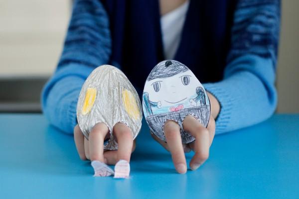 Easter Egg Finger Puppet Printable Craft