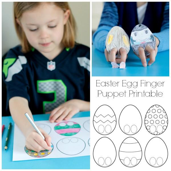 Easter Egg Finger Puppet Printable Kids Craft