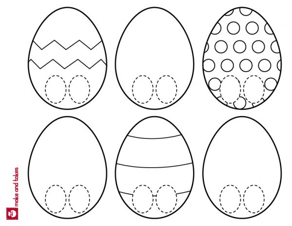 Easter Egg Puppet Printable makeandtakes.com