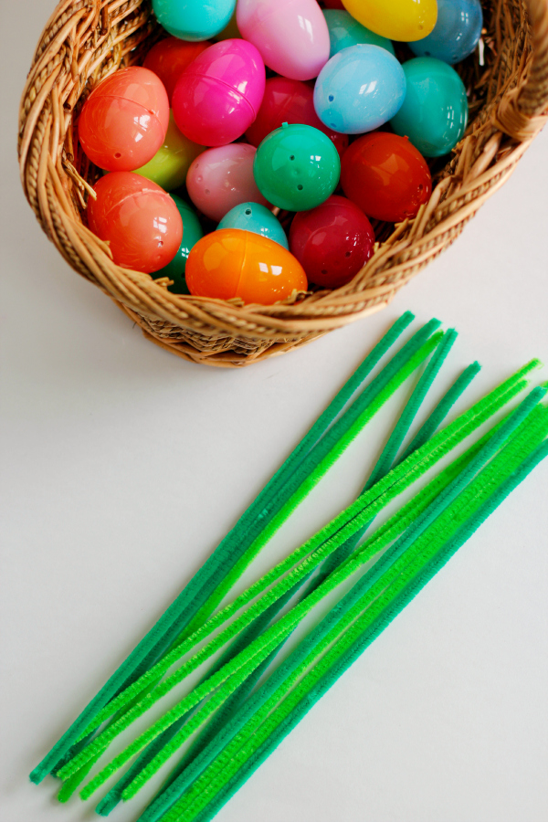 Easter Eggs and Pipe Cleaners Supplies