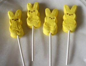 Easter Peeps on a Stick