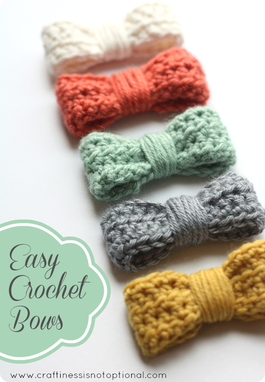Easy Crochet Hair Bow Tutorial