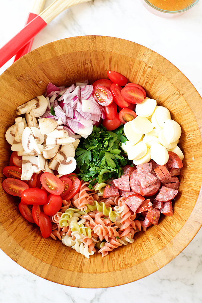 Easy Italian Pasta Salad with Italian Dressing