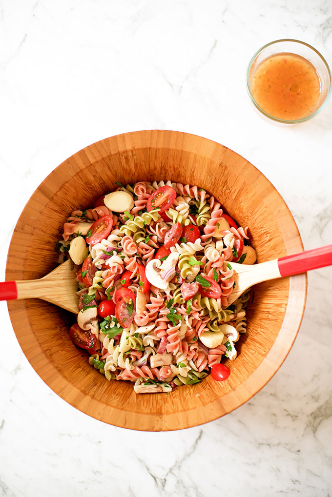 Easy Italian Pasta Salad with Italian Dressing