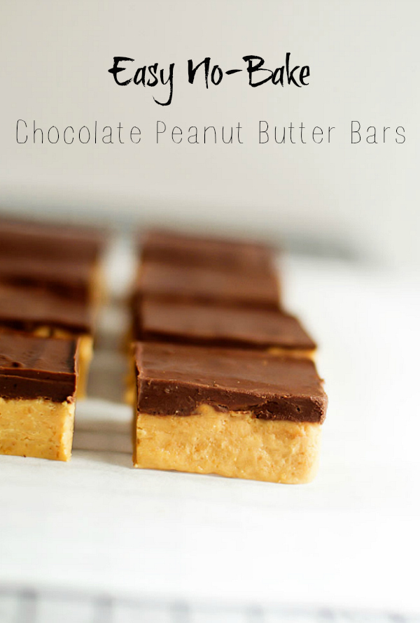Easy No Bake Chocolate Peanut Butter Bars