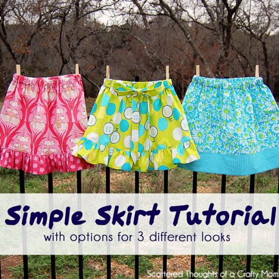 Simple Skirt Tutorial with Three Options