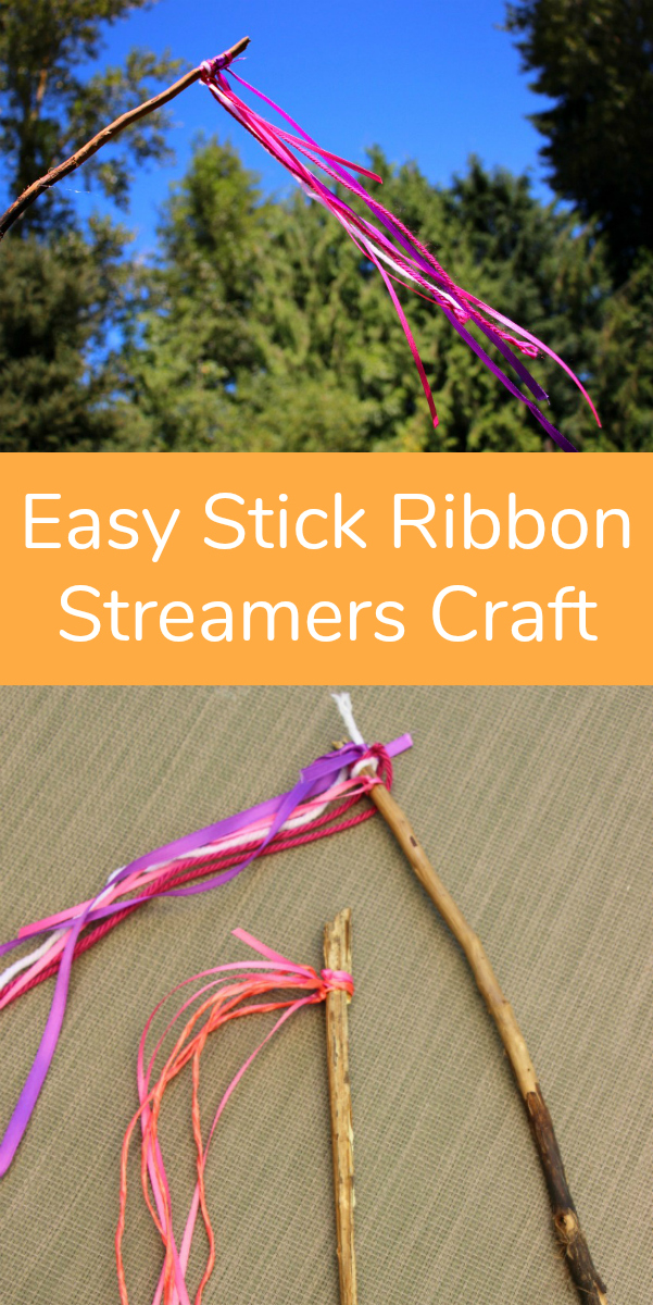 Easy Stick Ribbon Streamers Craft