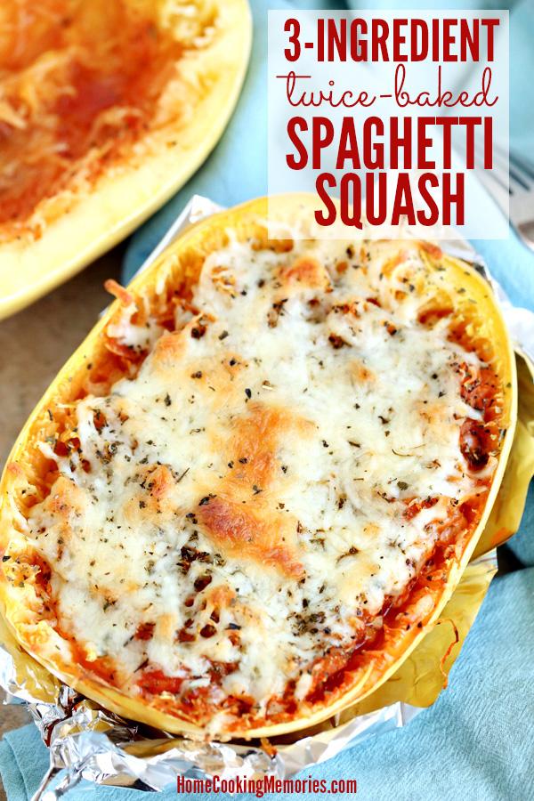 3-Ingredient Twice-Baked Spaghetti Squash Recipe