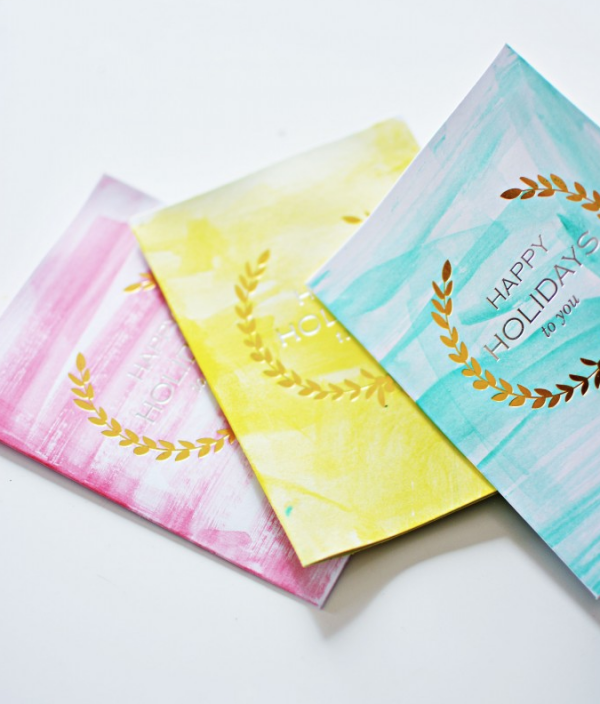 Easy watercolor cards to make